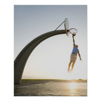 Jugador de básquet 3 póster