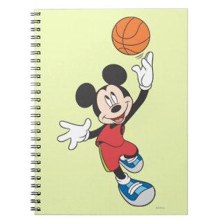 Jugador de básquet 5 de Mickey Mouse Libreta