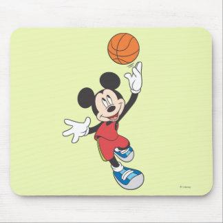 Jugador de básquet 5 de Mickey Mouse Alfombrilla De Raton