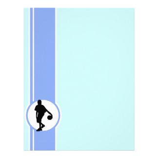 Jugador de básquet; Azul Plantillas De Membrete