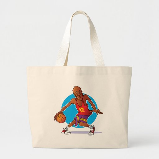 Jugador de básquet bolsa tela grande