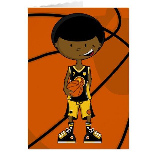 Jugador de básquet con la tarjeta del Afro