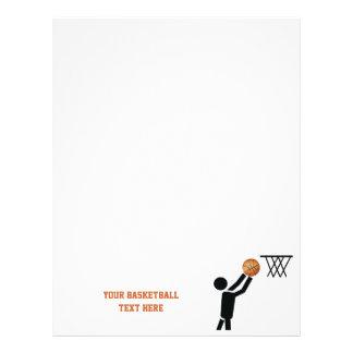 Jugador de básquet con personalizado de la bola membretes personalizados