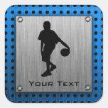 Jugador de básquet de aluminio cepillado de la calcomanías cuadradas personalizadas