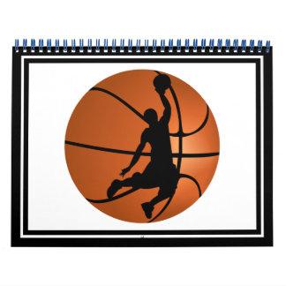 Jugador de básquet de la clavada calendarios de pared