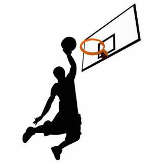 Jugador de básquet de la clavada de la silueta escultura fotografica