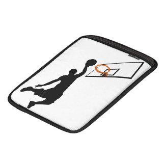 Jugador de básquet de la clavada de la silueta manga de iPad