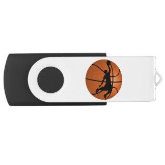 Jugador de básquet de la clavada en baloncesto memoria USB