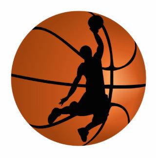 Jugador de básquet de la clavada escultura fotográfica