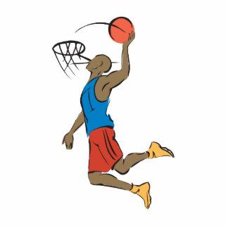 jugador de básquet de la clavada escultura fotografica