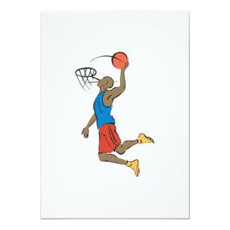 """jugador de básquet de la clavada invitación 5"""" x 7"""""""
