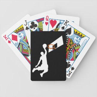 Jugador de básquet de la clavada - silueta blanca baraja cartas de poker