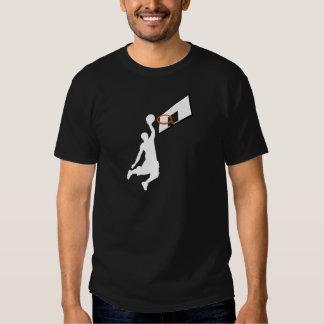 Jugador de básquet de la clavada - silueta blanca remeras