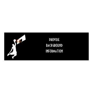 Jugador de básquet de la clavada - silueta blanca plantilla de tarjeta de negocio