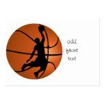 Jugador de básquet de la clavada plantillas de tarjetas de visita