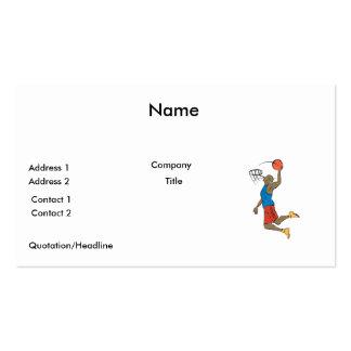 jugador de básquet de la clavada tarjetas de visita