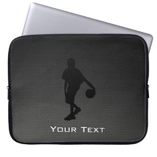 Jugador de básquet de la mirada de la fibra de car mangas computadora