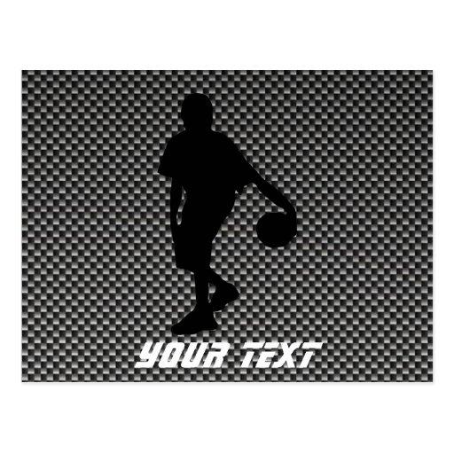 Jugador de básquet de la mirada de la fibra de postal