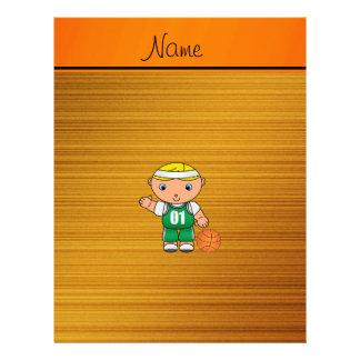 Jugador de básquet de madera conocido de encargo membrete personalizado