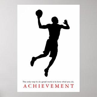 Jugador de básquet de motivación de la cita del póster