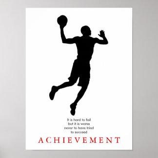 Jugador de básquet de motivación póster