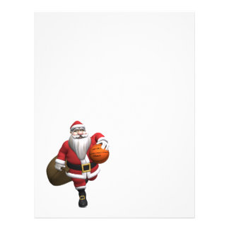 Jugador de básquet de Papá Noel Plantillas De Membrete