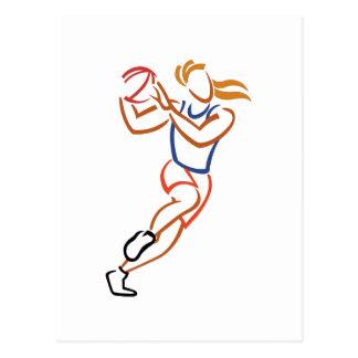 Jugador de básquet de sexo femenino postales