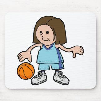 jugador de básquet de sexo femenino tapete de ratones