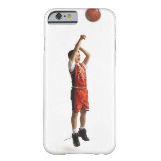 jugador de básquet de sexo masculino afroamericano funda para iPhone 6 barely there