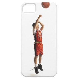 jugador de básquet de sexo masculino afroamericano iPhone 5 funda
