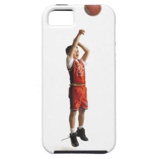 jugador de básquet de sexo masculino afroamericano iPhone 5 fundas
