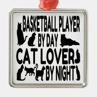 Jugador de básquet del amante del gato ornamente de reyes