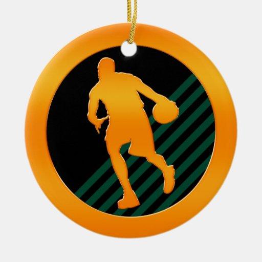 Jugador de básquet del oro ornamento de navidad