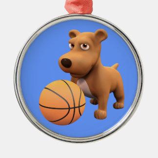 jugador de básquet del perro 3d (editable) adorno de reyes