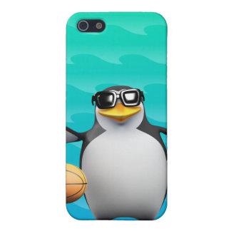 jugador de básquet del pingüino 3d iPhone 5 funda