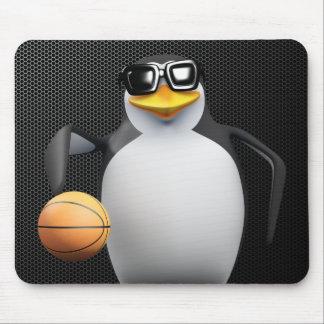 jugador de básquet del pingüino 3d mouse pad