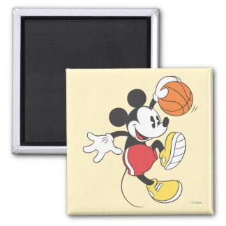 Jugador de básquet deportivo de Mickey el | Imán Cuadrado