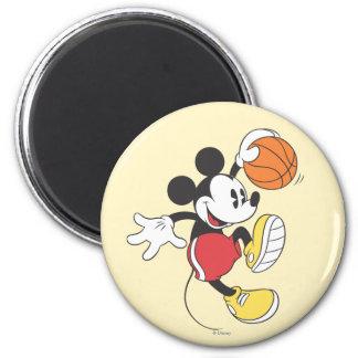 Jugador de básquet deportivo de Mickey el | Imán Redondo 5 Cm