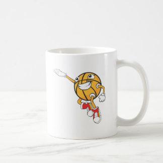 Jugador de básquet feliz que hace un Layup Taza De Café