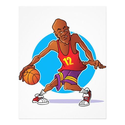 """Jugador de básquet folleto 8.5"""" x 11"""""""