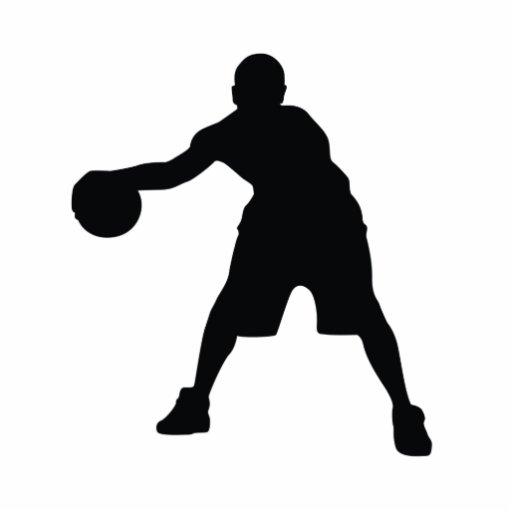 Jugador de básquet fotoescultura vertical