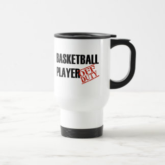 Jugador de básquet fuera de servicio taza de café