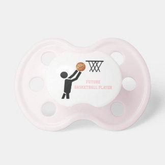 Jugador de básquet futuro con personalizado de la chupete de bebe