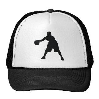 Jugador de básquet gorros bordados