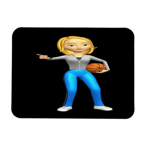 Jugador de básquet iman flexible