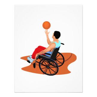 Jugador de básquet anuncio personalizado
