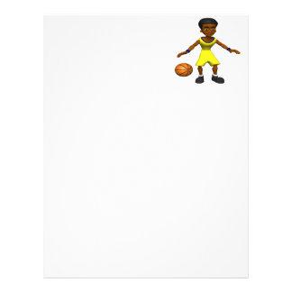 Jugador de básquet plantillas de membrete