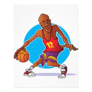 Jugador de básquet membrete
