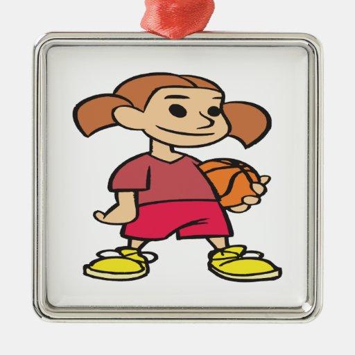 Jugador de básquet ornamente de reyes