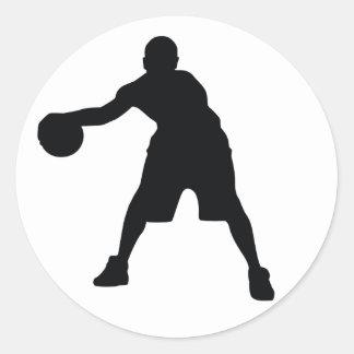 Jugador de básquet pegatina
